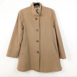 Fleurette Loro Piana Wool Stand Collar Coat Size 8